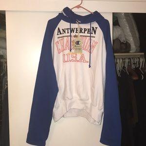 VETEMENTS X CHAMPION Antwerpen hoodie